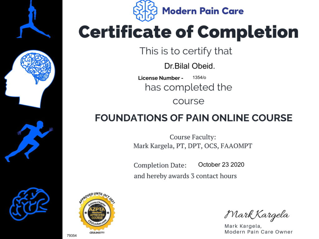 CEU Assessment - Foundations of Pain - -1